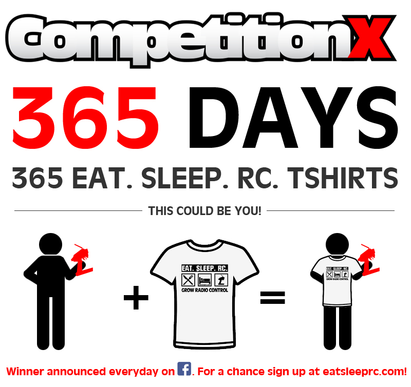 CompetitionX 365 Eat. Sleep. RC. T-Shirts Giveaway